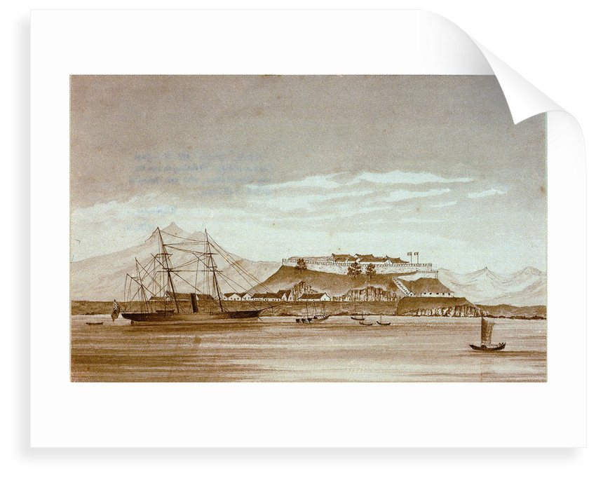 HMS 'Snake' off Shanghai (about 1859). Not Shanghai perhaps mouth of Yangtse by J.R.E. Pattison
