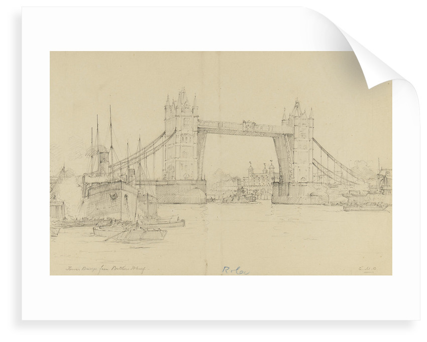 Tower Bridge from Butler's Wharf by Gerald M. Burn
