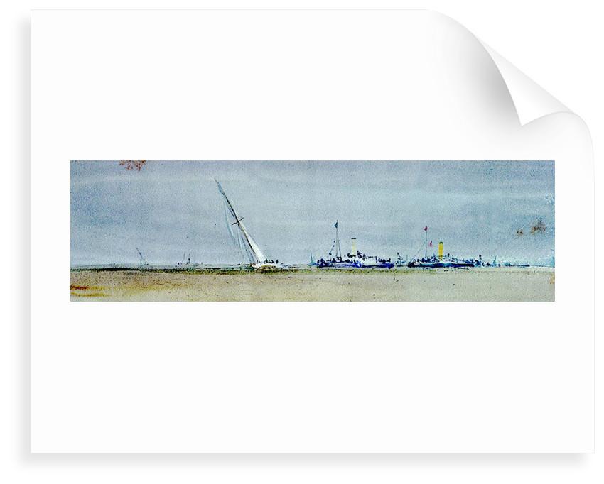Racing, Thames by William Lionel Wyllie