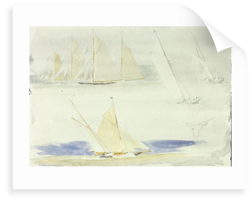 Yachts, Cowes by William Lionel Wyllie