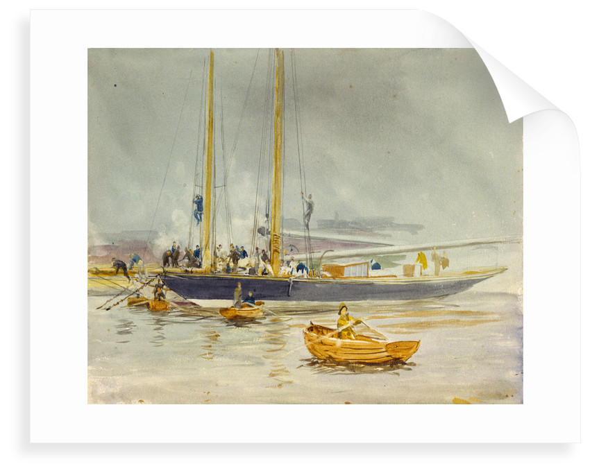 Study of a yacht by William Lionel Wyllie