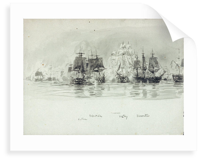 Named vessels at the Battle of Trafalgar 1805 by William Lionel Wyllie