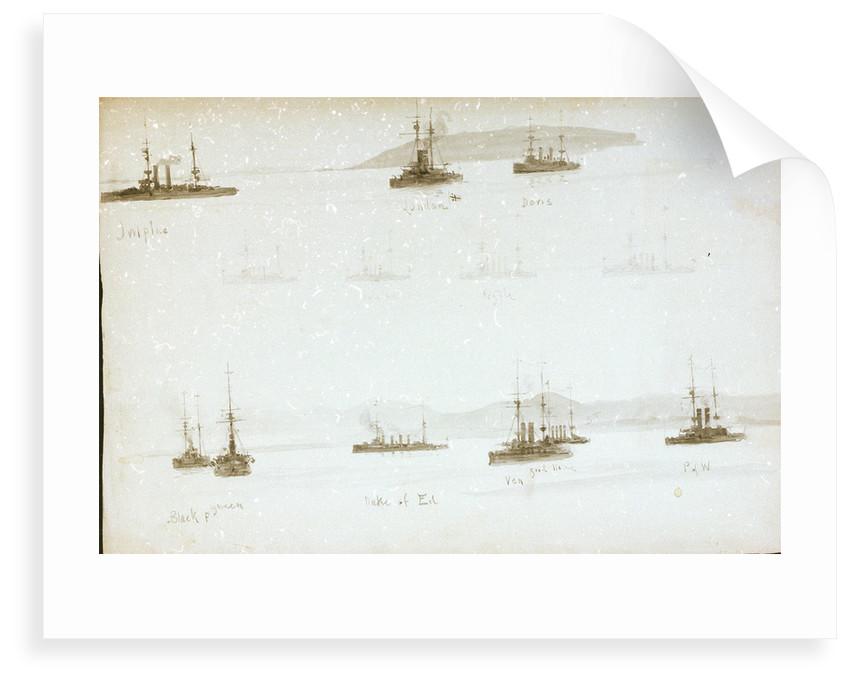 HMS 'Black Prince', 'Queen', 'Duke of Edinburgh' by William Lionel Wyllie