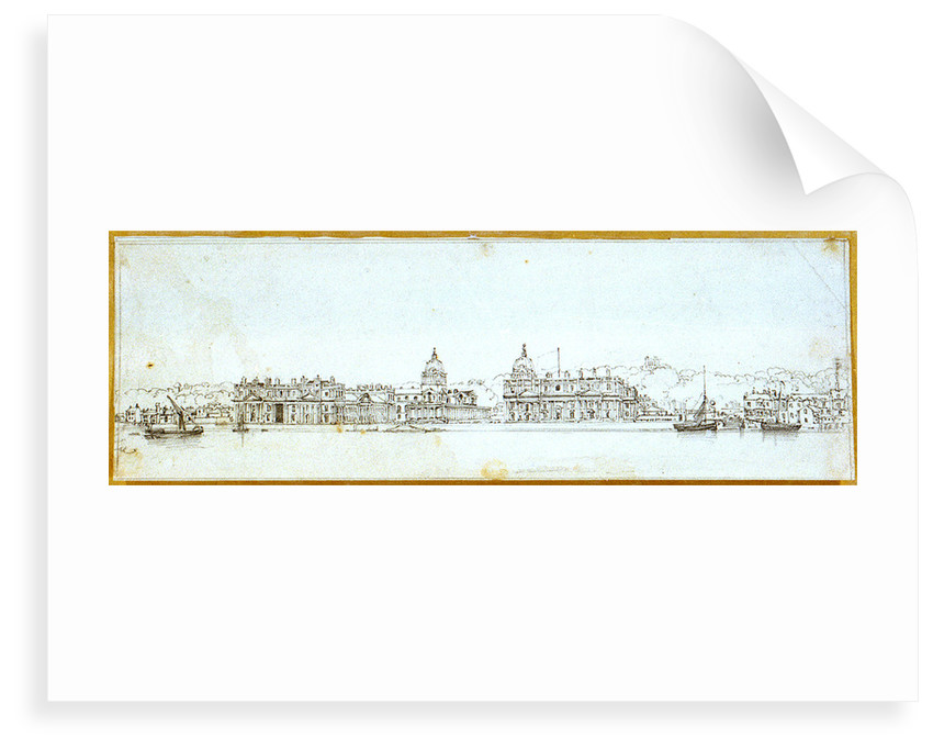 Greenwich Hospital from the river by Edward William Cooke