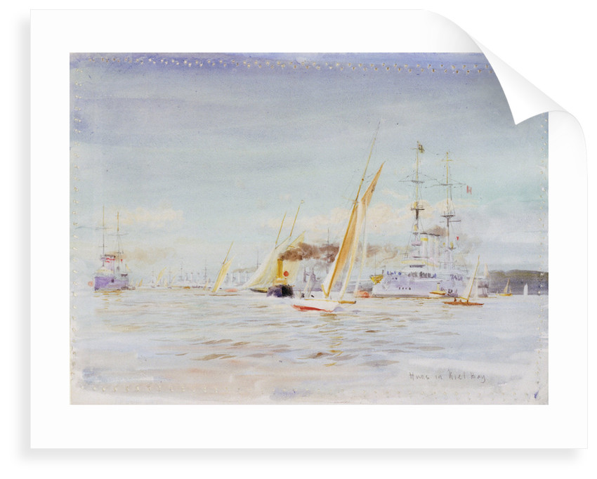 German fleet, Kiel by William Lionel Wyllie