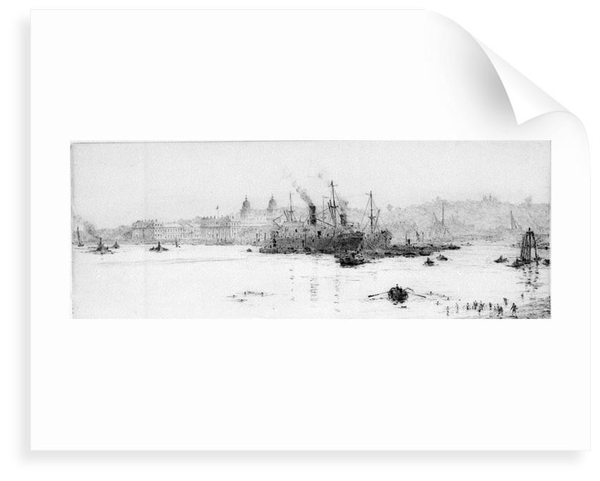 Sugar boats, Greenwich reach by William Lionel Wyllie