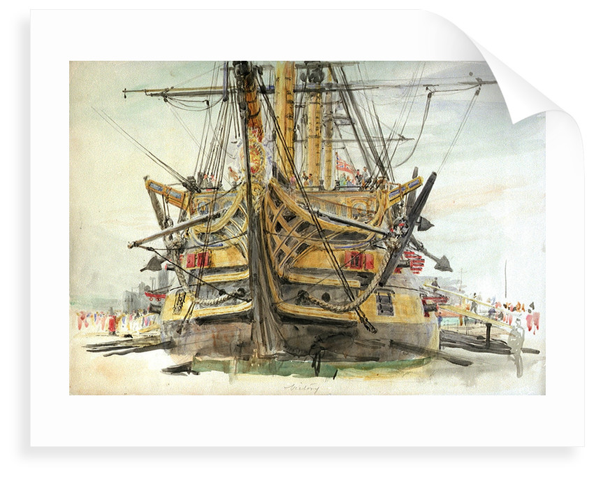 HMS Victory by William Lionel Wyllie