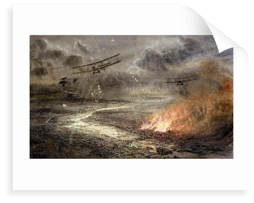Night bombing by William Lionel Wyllie