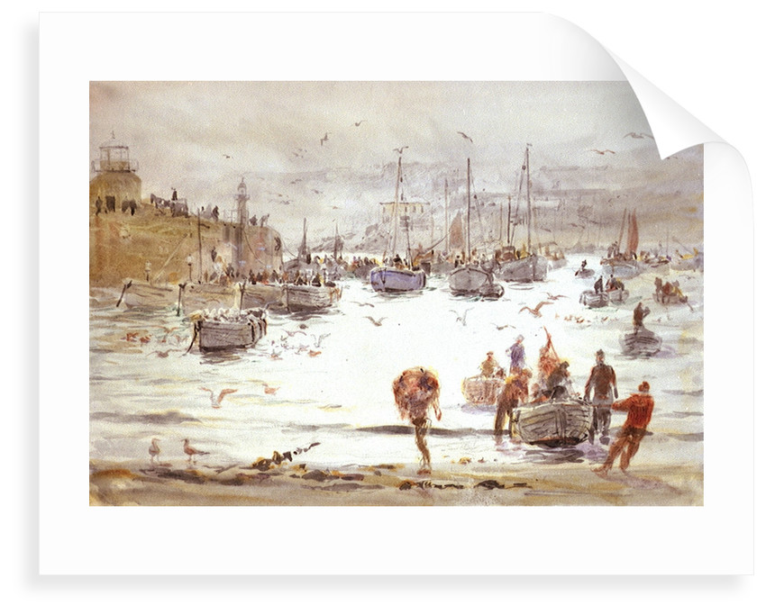 Landing Fish at St Ives by William Lionel Wyllie