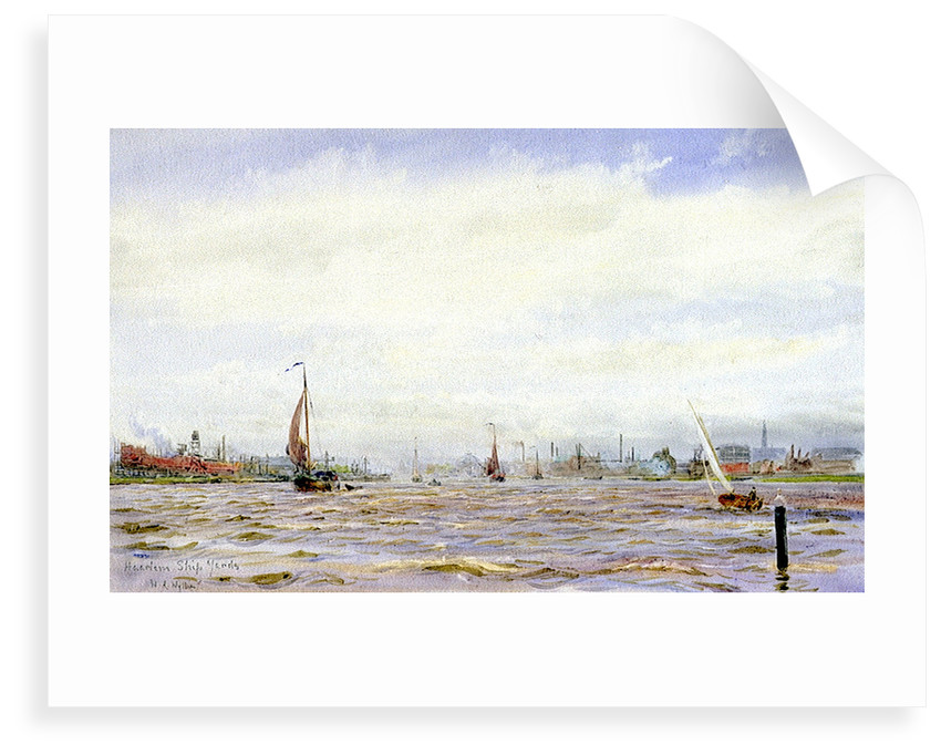 'Haarlem Ship Yards' by William Lionel Wyllie
