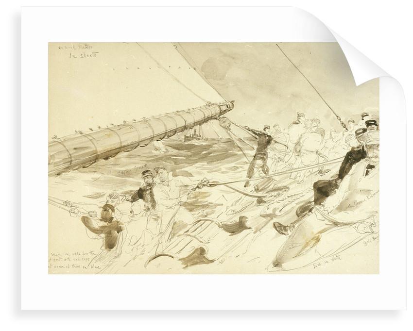 On board the German Emperor's yacht 'Meteor' by William Lionel Wyllie