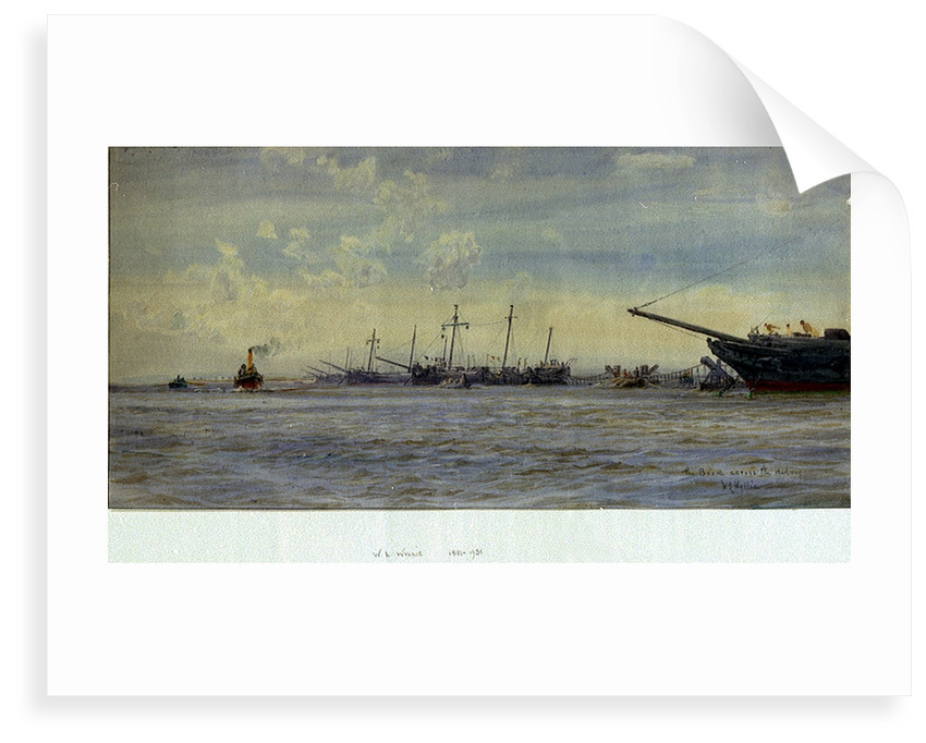 Boom across the Medway by William Lionel Wyllie