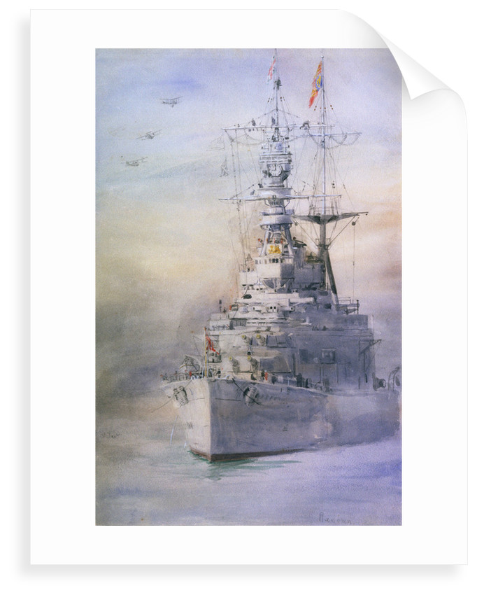 HMS 'Renown' by William Lionel Wyllie