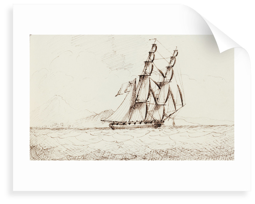 Bow view of the 'Waterwitch' upon the starboard tack by Edward Bamfylde Eagles