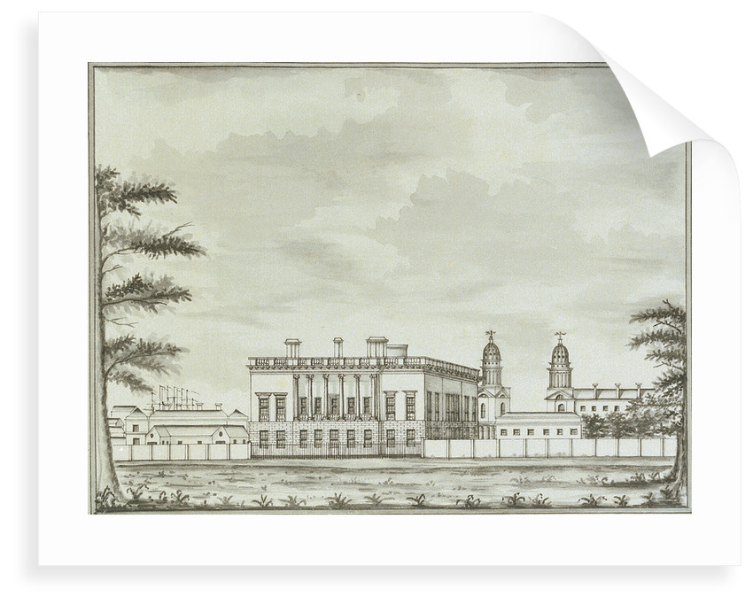 View of the Queen's House, Greenwich, from Greenwich Park by John Charnock