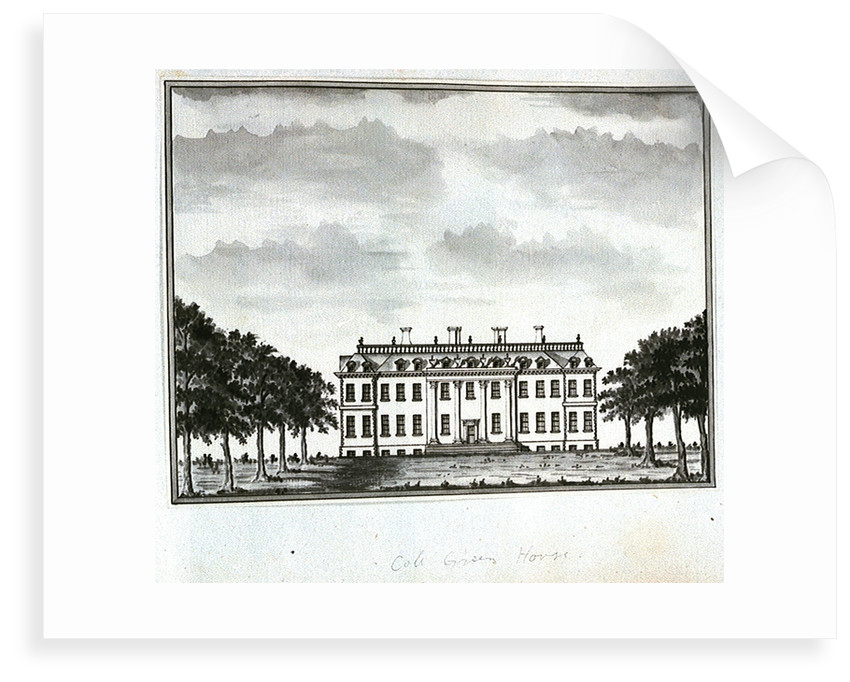 View of Cole Green House, from the east front by John Charnock
