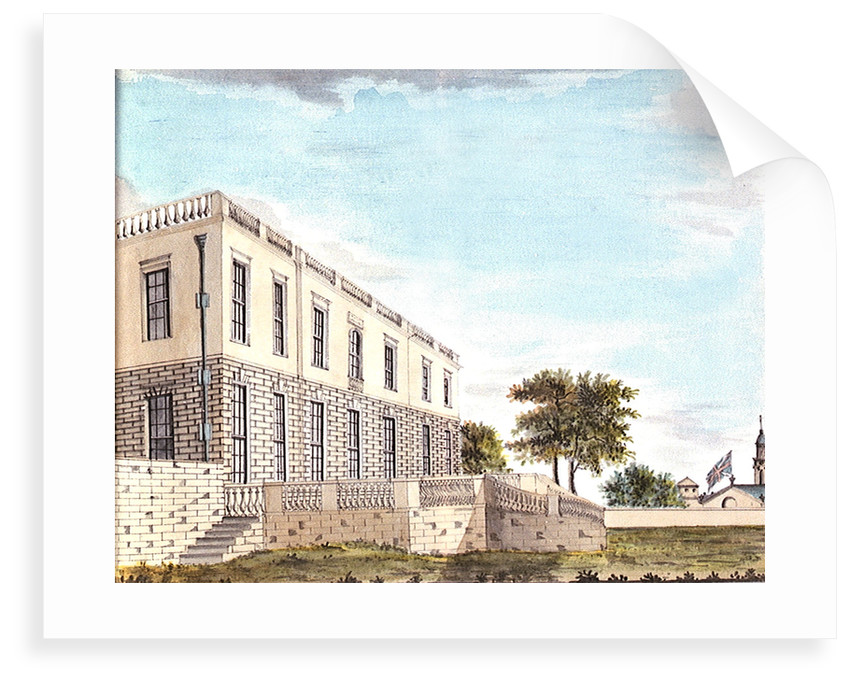 The Queen's House from the north east showing north facade and terrace by John Charnock