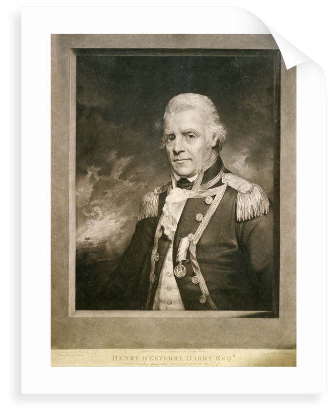 Henry D'Esterre Darby Esqr. Captain of His Majesty's Ship 'Bellerophon' Aug 1st 1798 by William Beechey