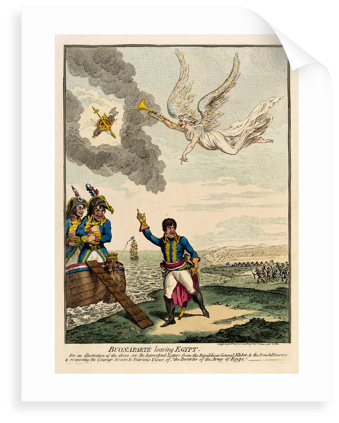 Buonaparte leaving Egypt by James Gillray