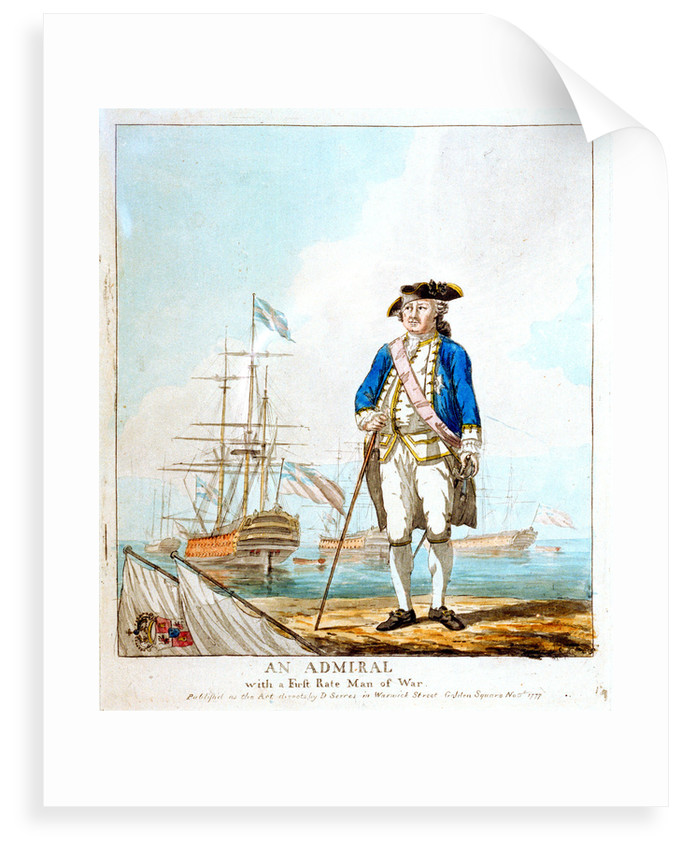 An admiral with a first-rate man-of-war by D. Serres