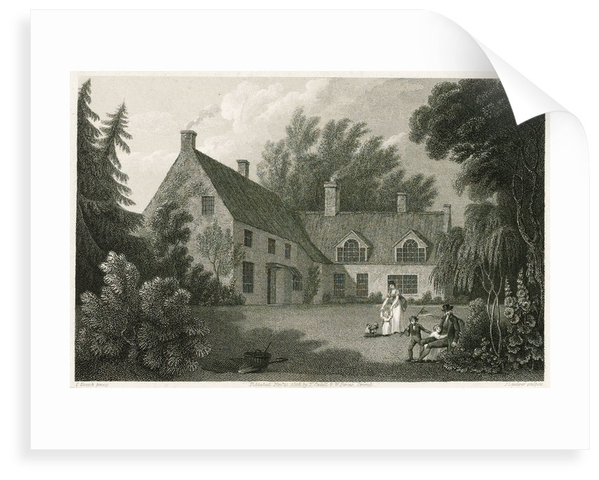 The Parsonage House of Burham Thorpe by Isaac Pocock