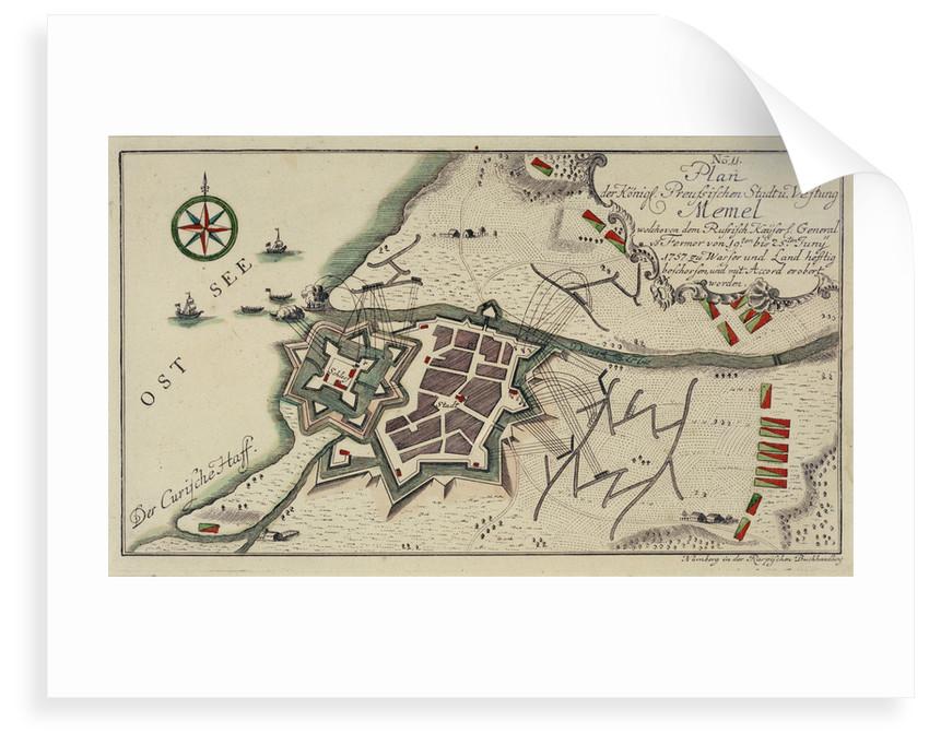 Plan of Memel by unknown