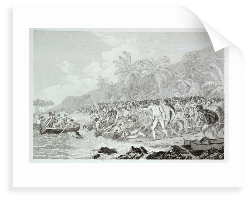 The Death of Captain Cook (untitled) by Francesco Bartolozzi