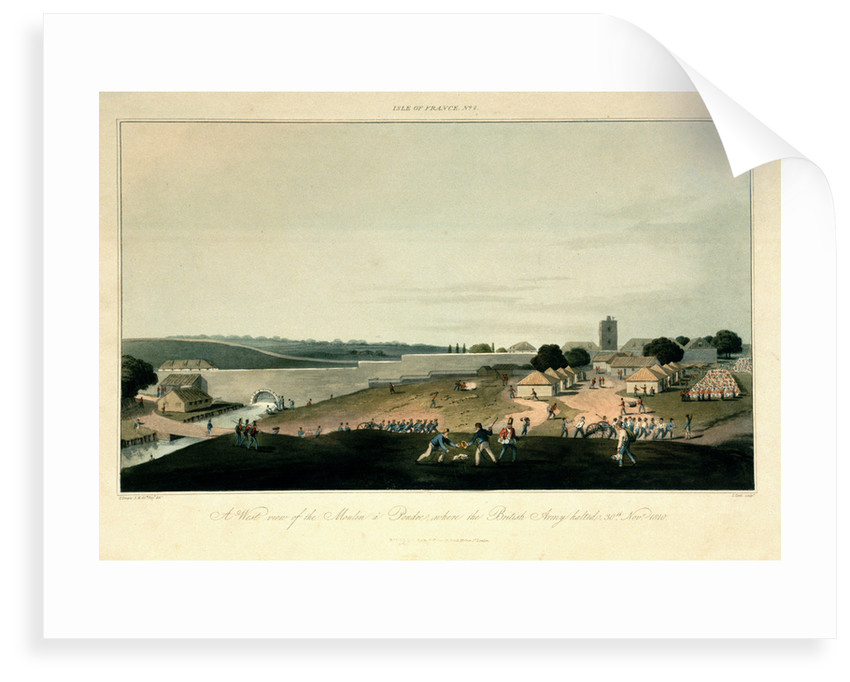 Isle of France No. 2. A west view of the Moulin a Pondre, where the British Army halted on 30 November 1810 by R. Temple