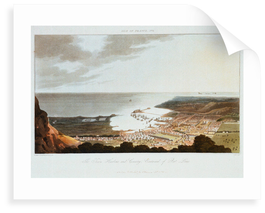 Isle of France No. 5. The Town, Harbour, and Country, Eastward of Port Louis by R. Temple