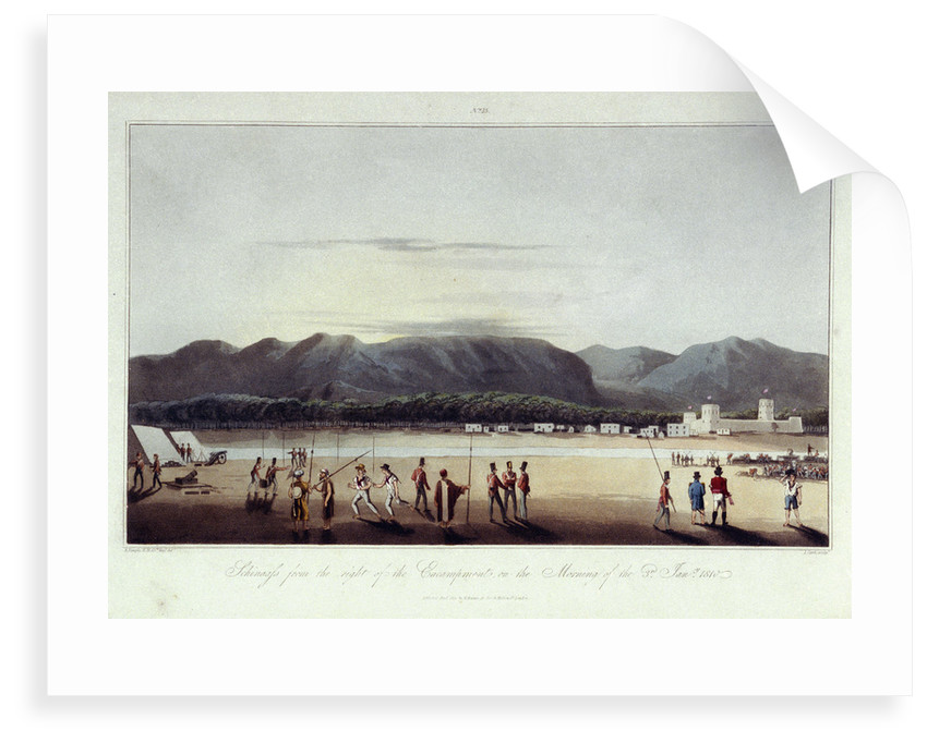 No.15 'Schinaass from the right of the encampment, on the morning of 3 January 1810' by R. Temple