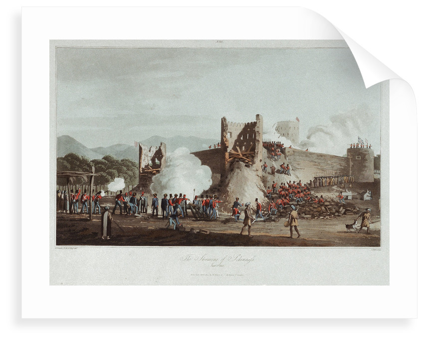 No. 16 'The storming of Schinaass, 3 January 1810' by R. Temple