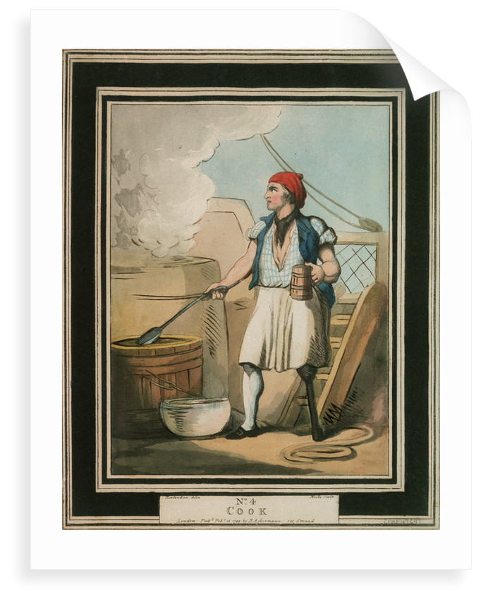 Cook: no. 4 in series by Thomas Rowlandson