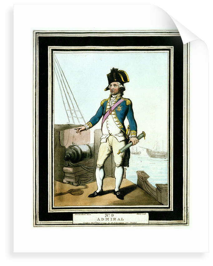 Admiral: no. 9 in series by Thomas Rowlandson
