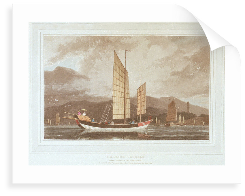 Chinese vessels by Thomas Daniell
