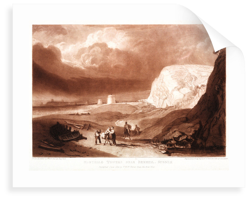 Martello towers near Bexhill, Sussex by Joseph Mallord William Turner