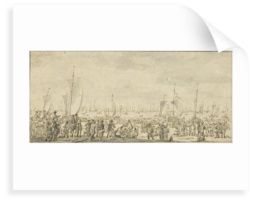Charles II leaving Scheveningen, May 1660 by Adriaen Pietersz van der Venne