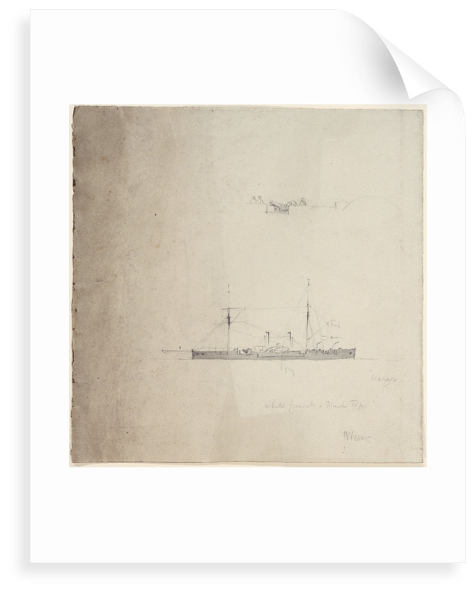 The gunboat 'Weser' by Oswald Walter Brierly