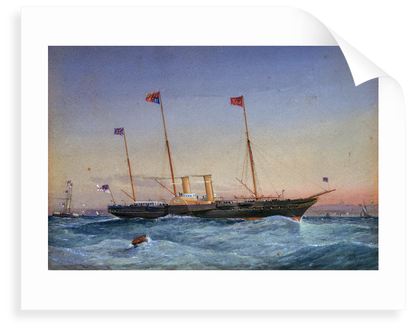 The yacht 'Victoria & Albert' by William Frederick Mitchell