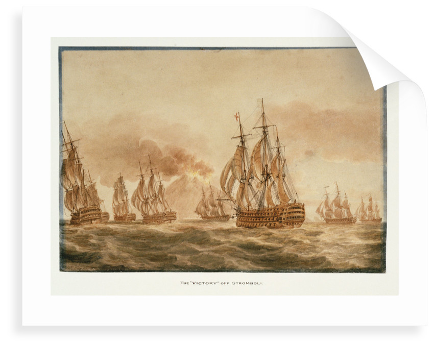 The 'Victory'  with the fleet off Stromboli,  January 1805 by Nicholas Pocock