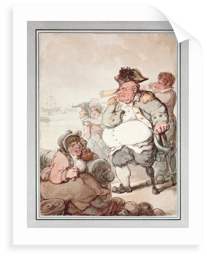 Admiral Pasley, the 'Tough Old Commodore'. 'The bullets and gout have knocked his hulk about' by Thomas Rowlandson