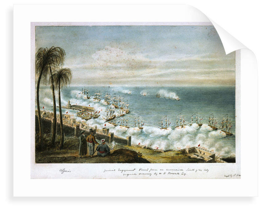 Bombardment of Algiers, 1816 by William Innes Pocock