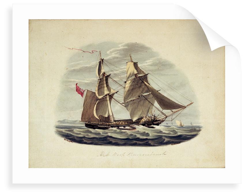 HM Sloop 'Sparrowhawk' by William Smyth