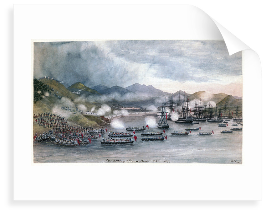 Second taking of 'Chusan', China, October 1st, 1841 by Edward Hodges Cree