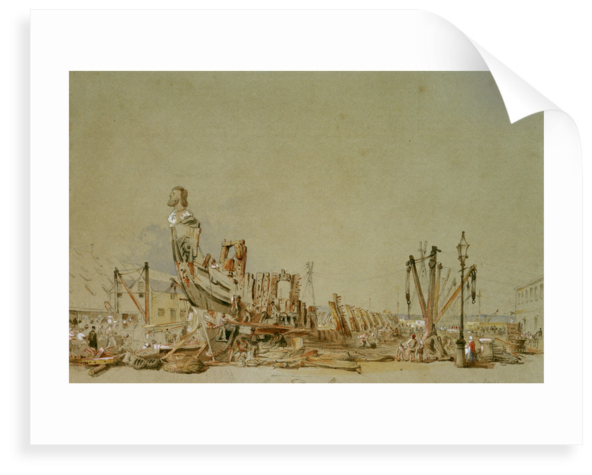 The Breaking up of the 'San Josef', 1849 by Nicholas Condy