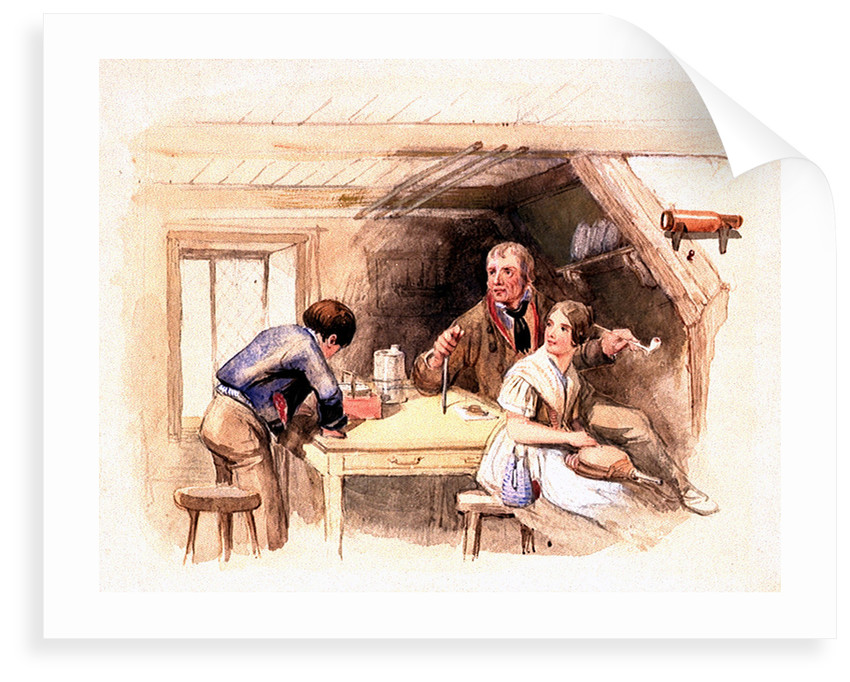 'How's her head Jack?' Original illustration to Marryat's 'Poor Jack' (1840) by Clarkson Stanfield