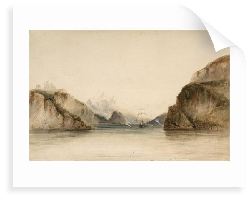 Portrait Cove, Beagle Channel, South America by Conrad Martens
