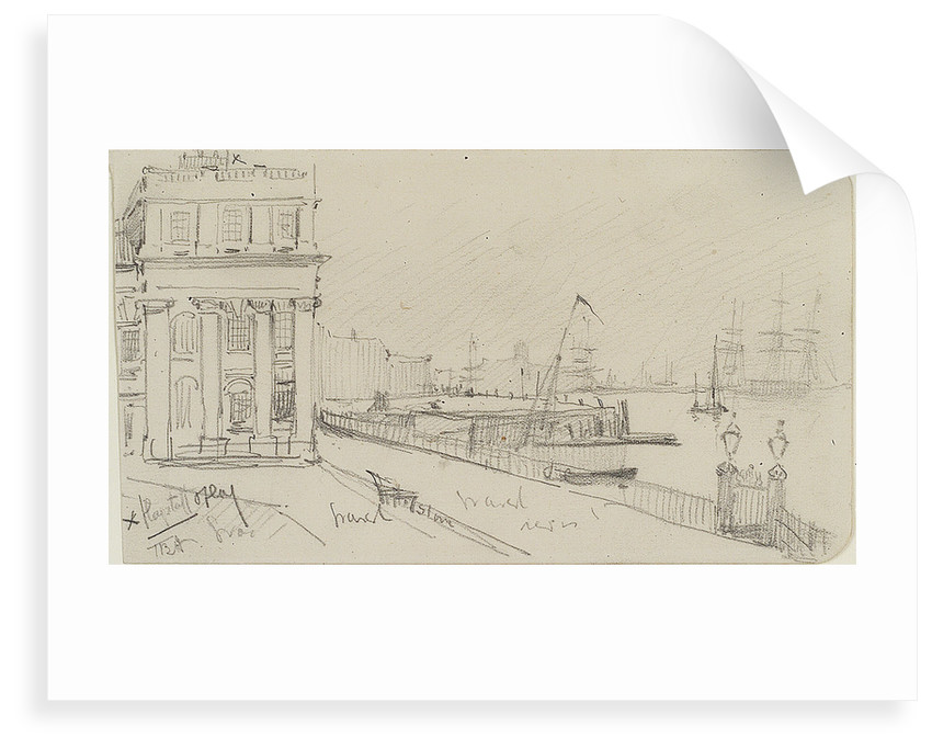 Greenwich Pier from the end of King Charles block by Thomas Bush Hardy