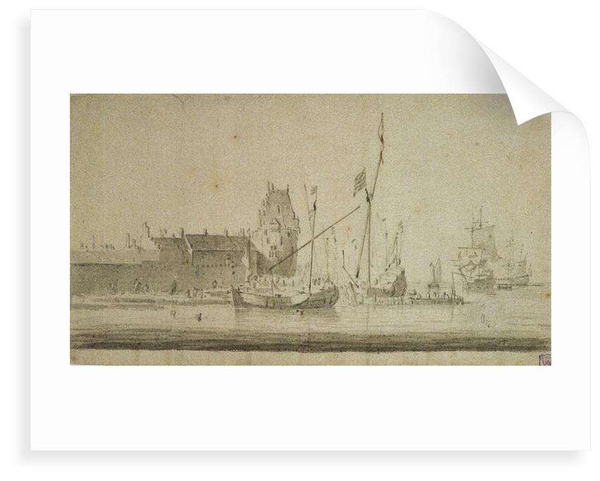 View of Enkhuizen by Willem Van de Velde the Younger