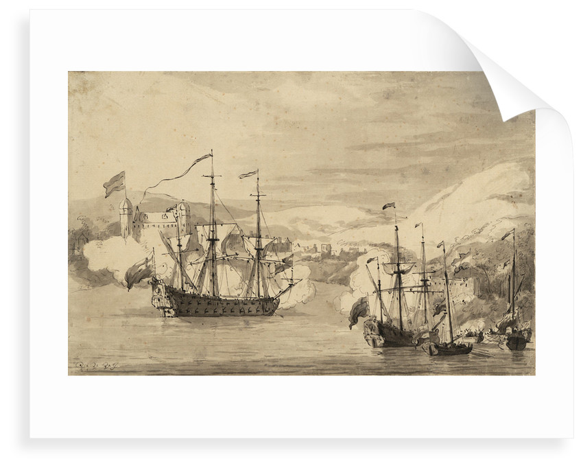 The capture of Tobago? by Willem Van de Velde the Younger