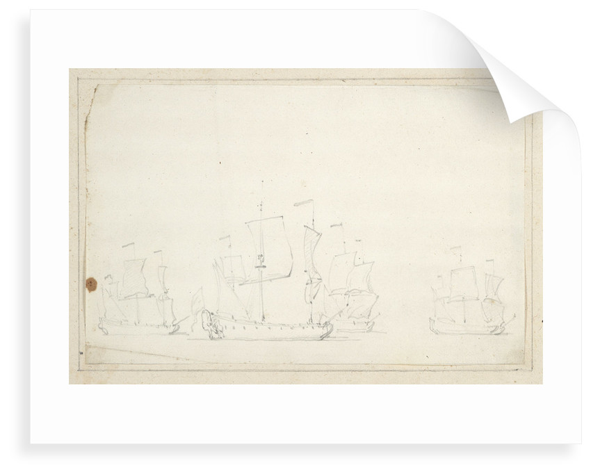 English ships in stays by Willem Van de Velde the Younger